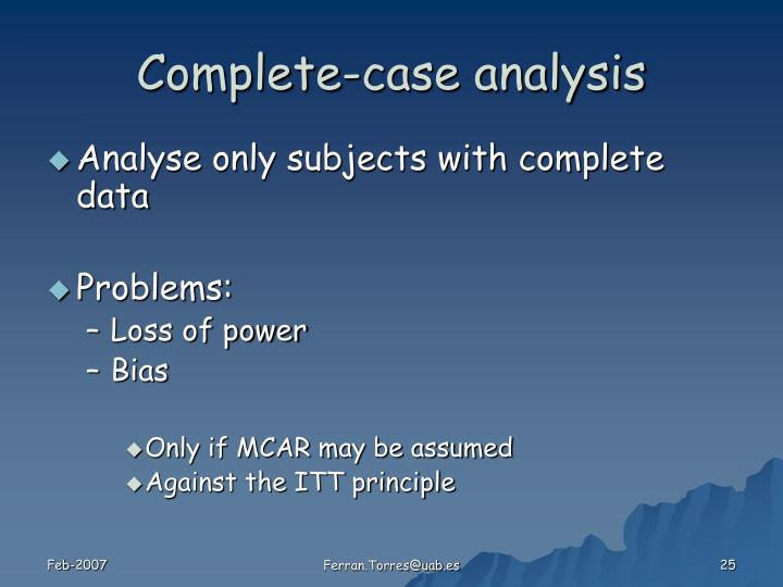 Complete-case analysis