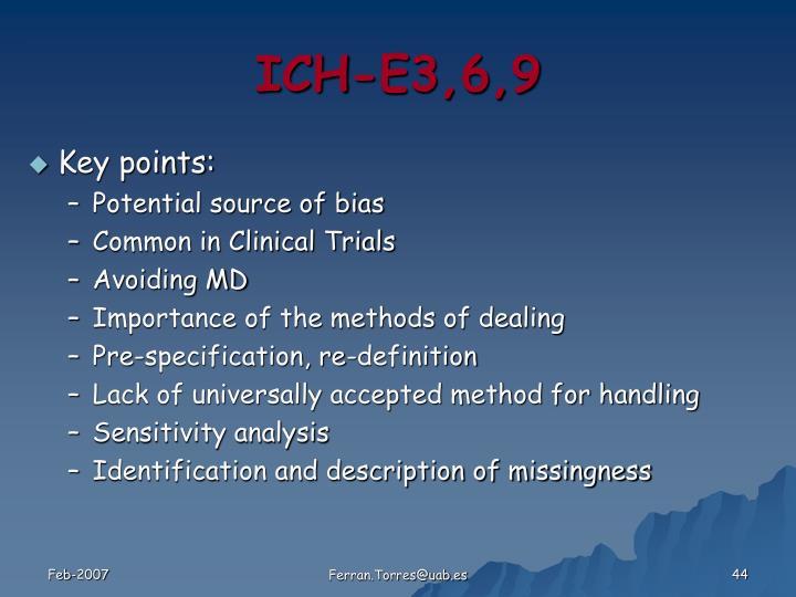 ICH-E3,6,9