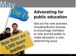 advocating for public education