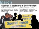 specialist teachers in every school
