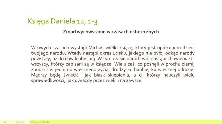 Księga Daniela 12, 1-3