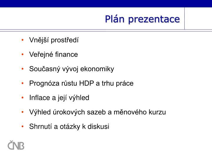 Plán prezentace