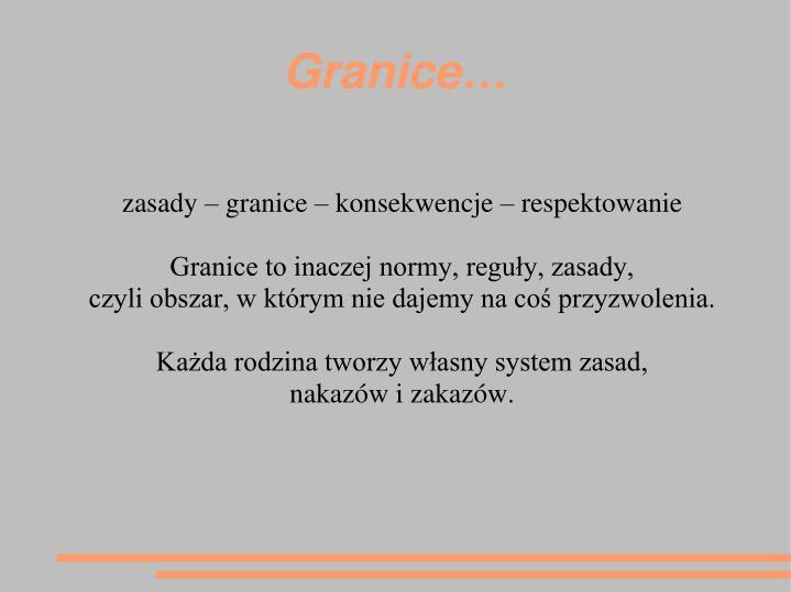 Granice…