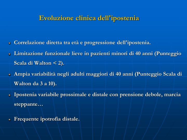 Evoluzione clinica dell'ipostenia