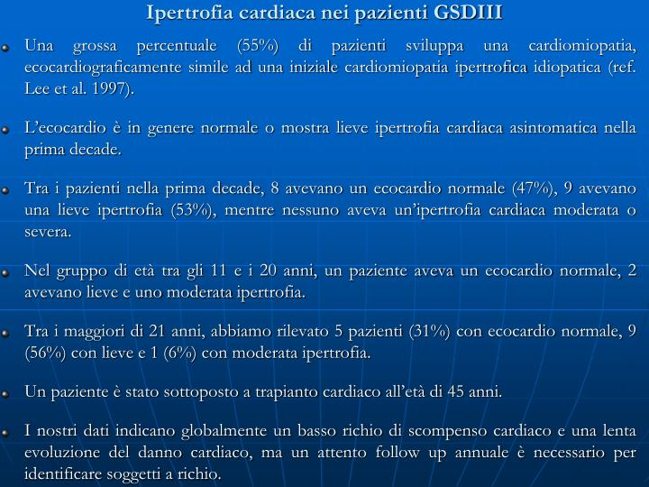 Ipertrofia cardiaca nei pazienti GSDIII