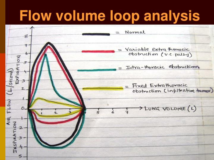 Flow volume loop analysis