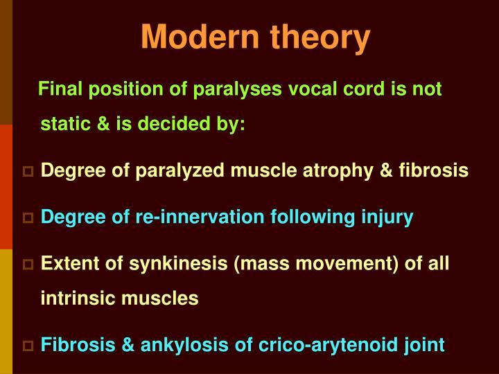 Modern theory