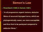 semon s law