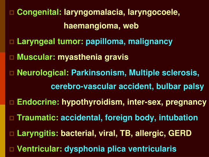 Congenital: