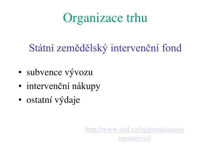 Organizace trhu