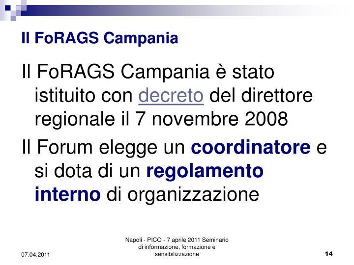 Il FoRAGS Campania