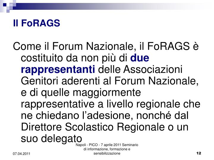 Il FoRAGS