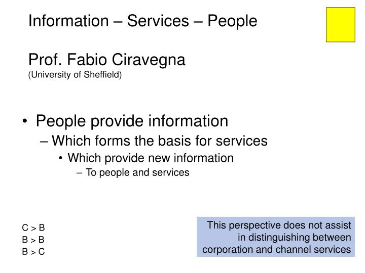 Information – Services – People