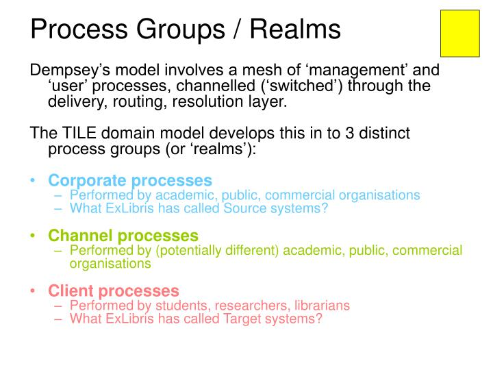 Process Groups / Realms