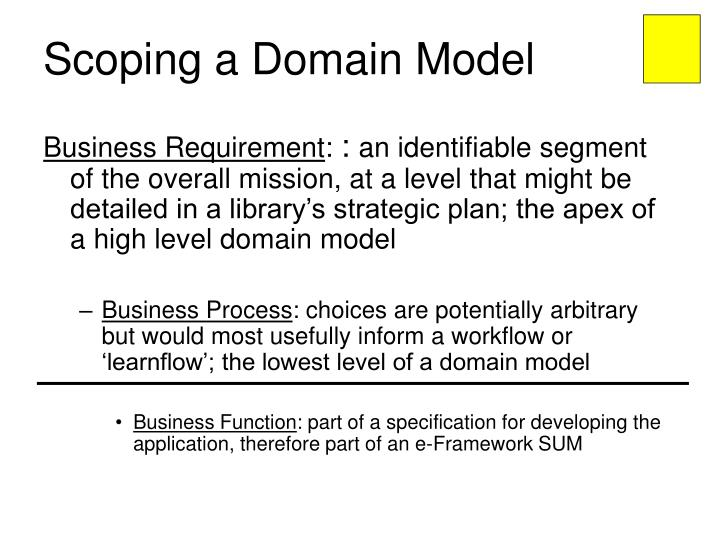 Scoping a Domain Model
