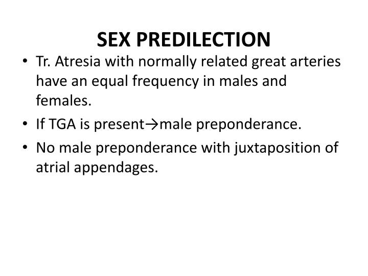 SEX PREDILECTION