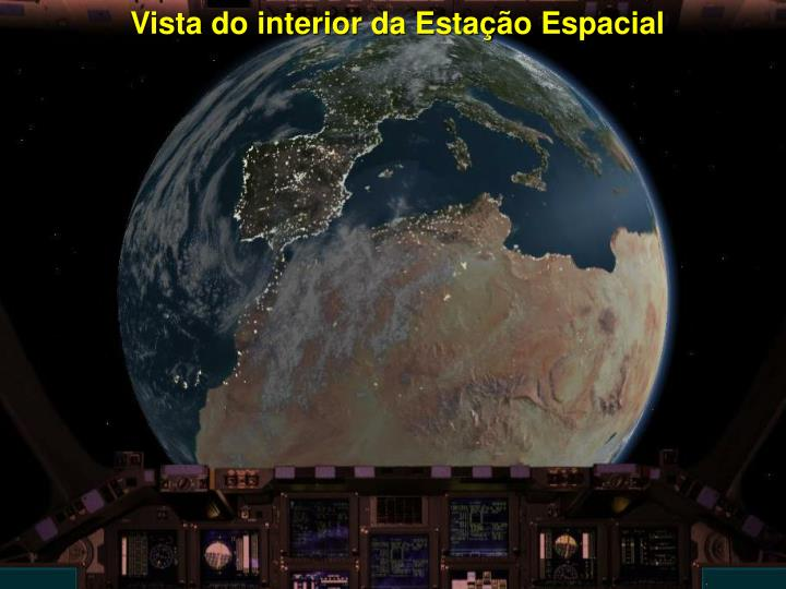 Vista do interior da Estação Espacial