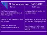 collaboration avec passage