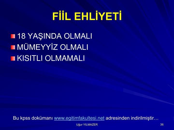FİİL EHLİYETİ