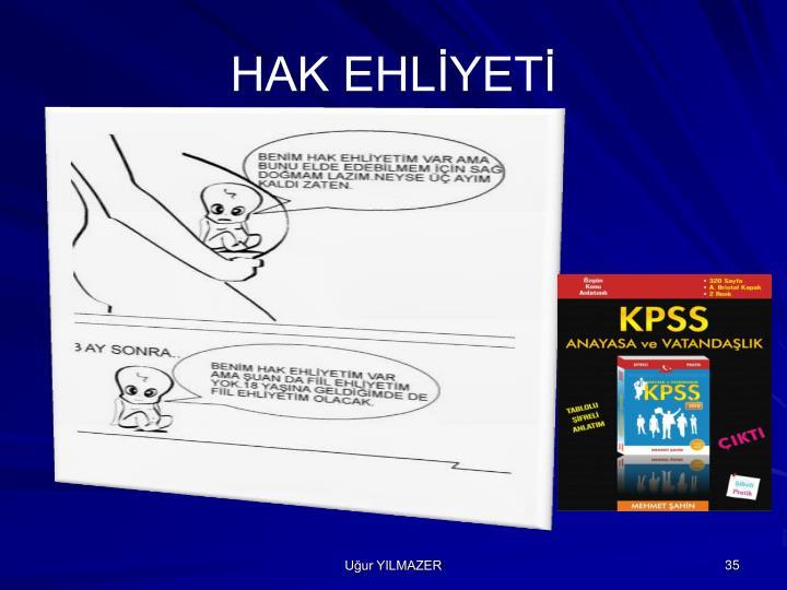 HAK EHLİYETİ