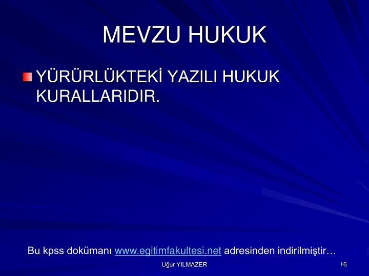 MEVZU HUKUK