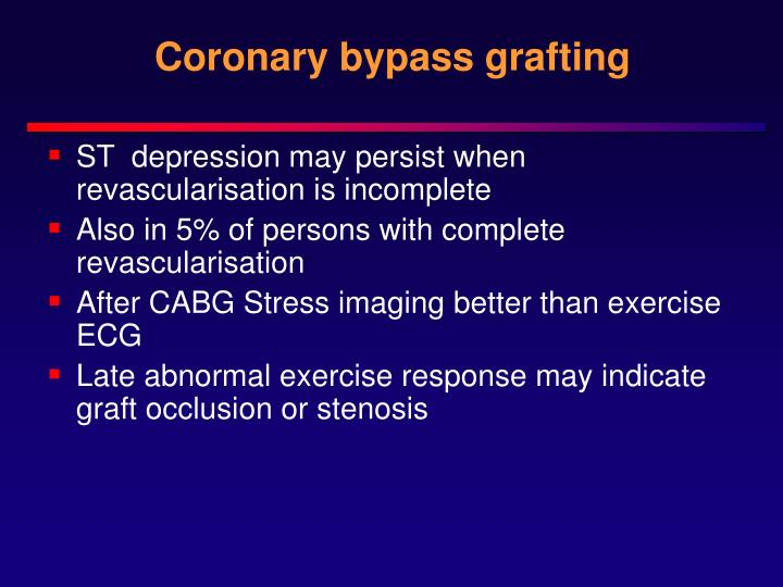 Coronary bypass grafting