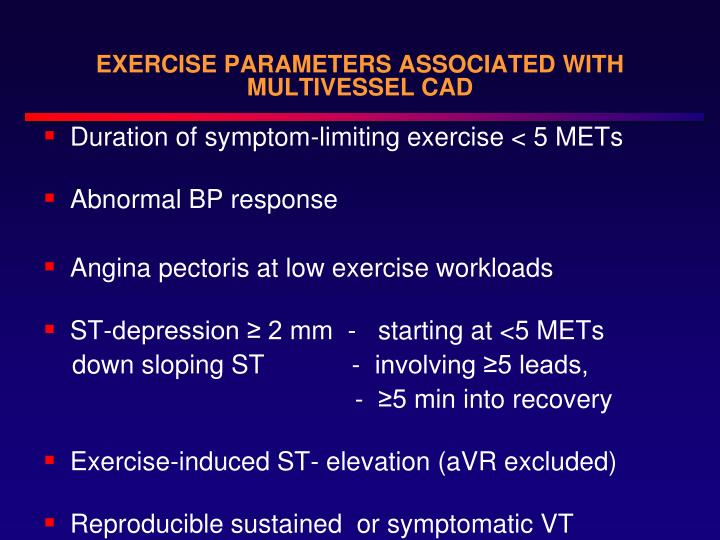 EXERCISE PARAMETERS ASSOCIATED WITH