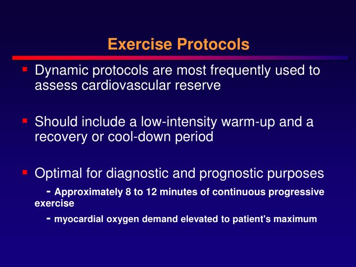 Exercise Protocols