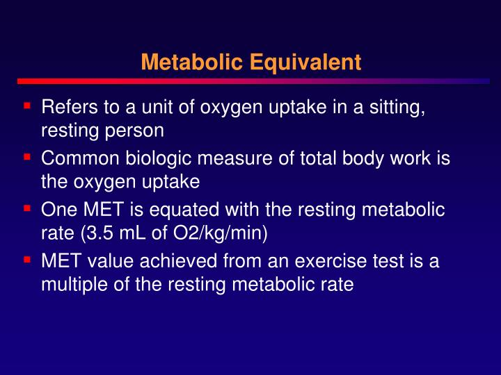 Metabolic Equivalent