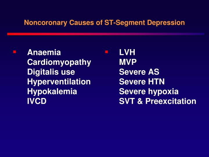 Noncoronary Causes of ST-Segment Depression