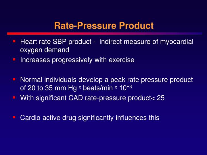 Rate-Pressure Product
