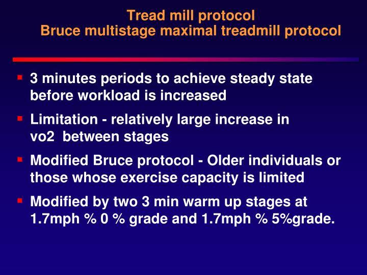 Tread mill protocol