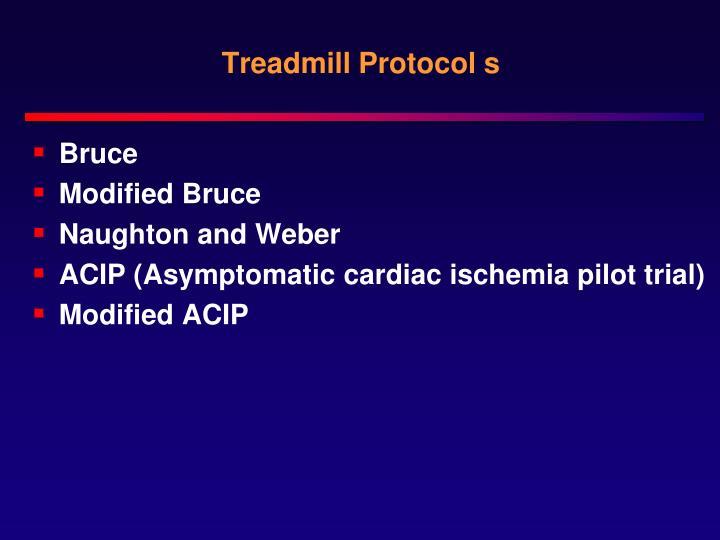 Treadmill Protocol s