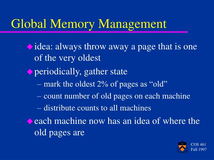 Global Memory Management