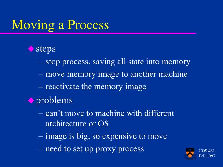 Moving a Process