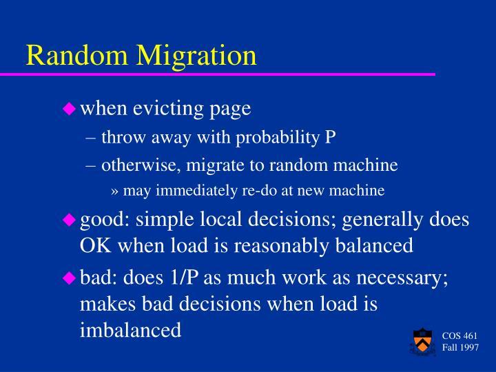 Random Migration