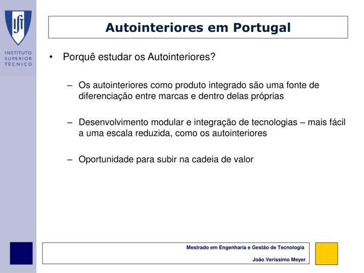 Autointeriores em Portugal