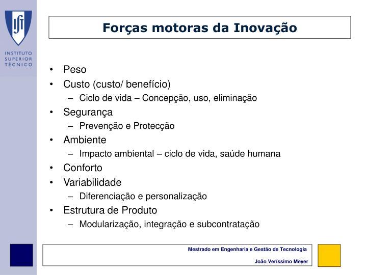 Forças motoras da Inovação