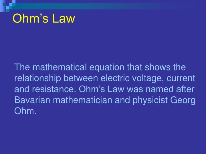 Ppt Ohms Law Powerpoint Presentation Id 4890755