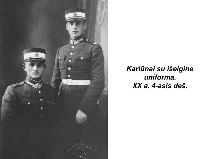 Kariūnai su išeigine uniforma.