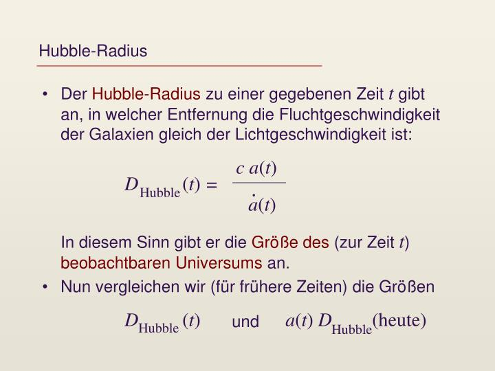 Hubble-Radius