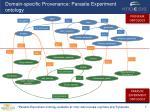 domain specific provenance parasite experiment ontology