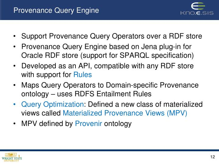 Provenance Query