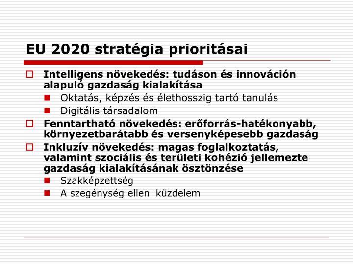 EU 2020 stratégia prioritásai