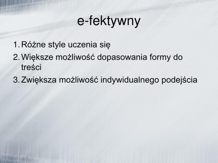 e-fektywny
