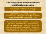 az eur pai uni term szetv delmi szab lyoz s nak alapja