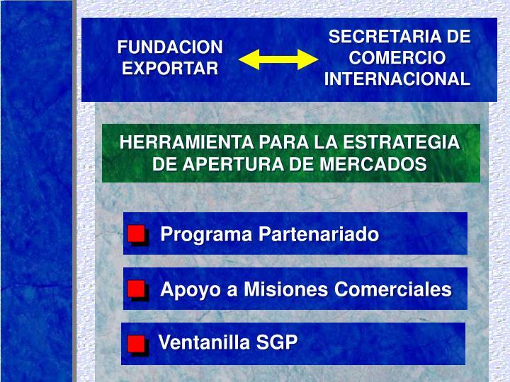 HERRAMIENTA PARA LA ESTRATEGIA DE APERTURA DE MERCADOS