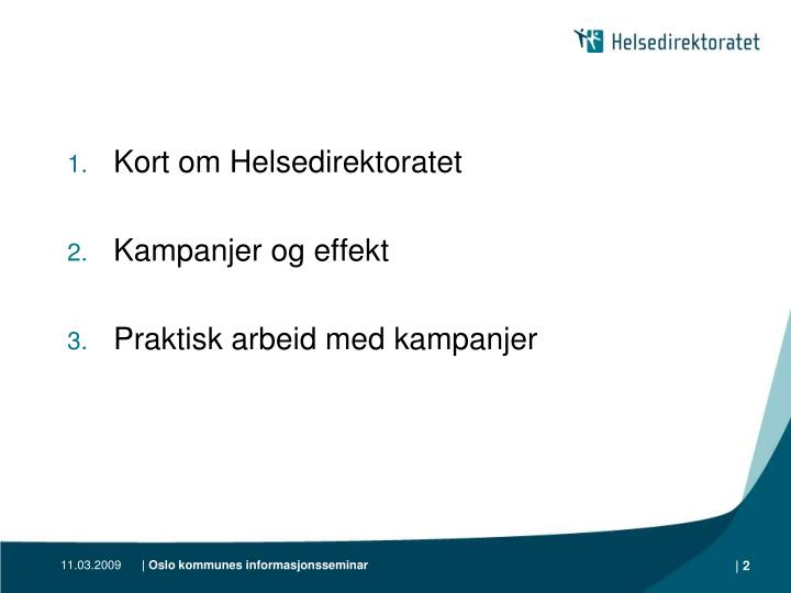 Kort om Helsedirektoratet