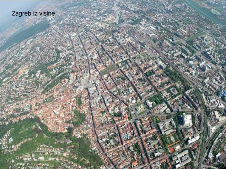 Zagreb iz visine