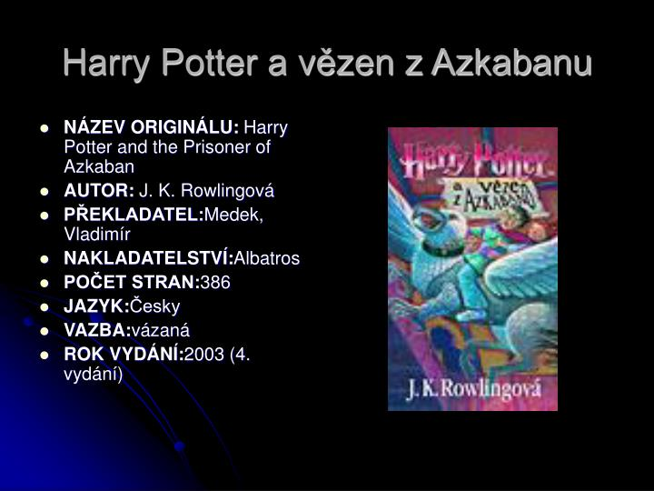 Harry Potter a vězen z Azkabanu